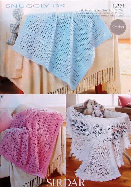 1299 DK Crochet Shawl/Blankets