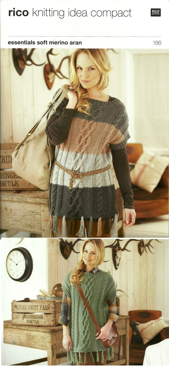186 Aran Fringed Sweater