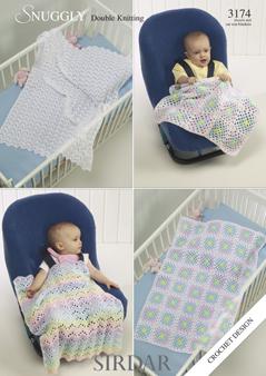 3174  DK Crochet Blanket / Shawl