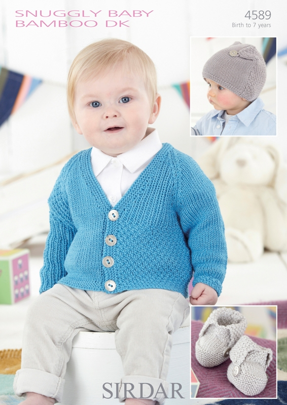 4589 DK Cardigan/Hat/Bootees