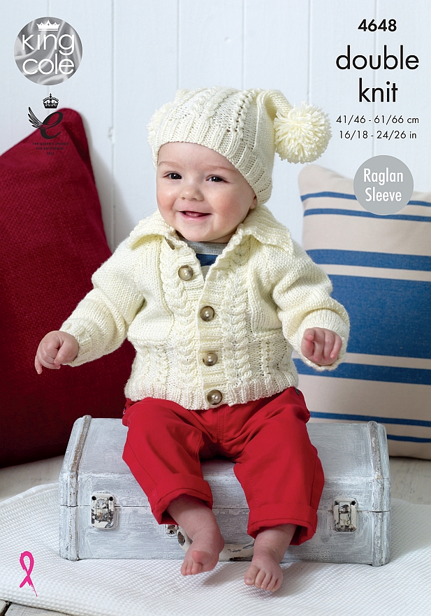 4648 King Cole DK Cardigan/Hat