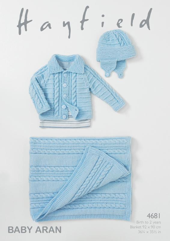 4681 Aran Jacket/Helmet/Blanket