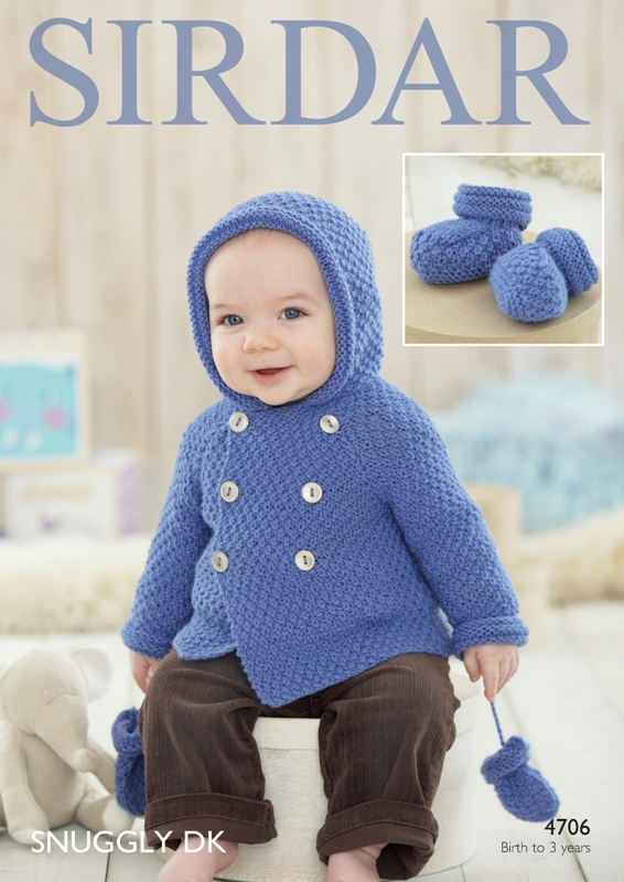 4706 DK Coat/Bootees/Mittens