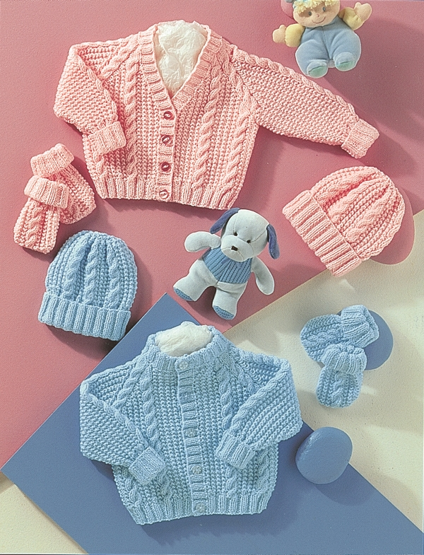 4771 DK Cardigans/Hat/Mitts