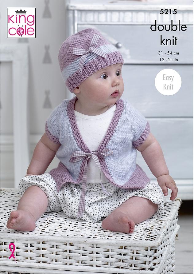 5215 King Cole DK Cardigans/Hat