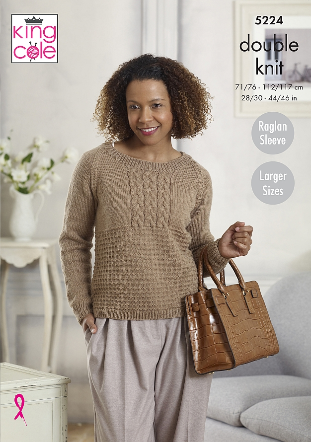 5224 King Cole DK Sweater/Cardigan
