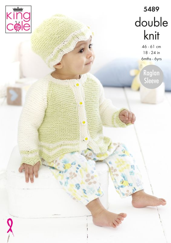 5489 King Cole DK Top/Cardigan/Hat
