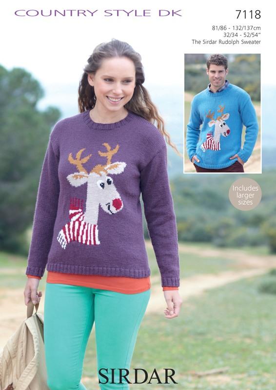 7118 DK Reindeer Sweater