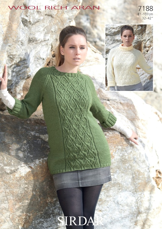 7188 Aran Tunic/Sweater