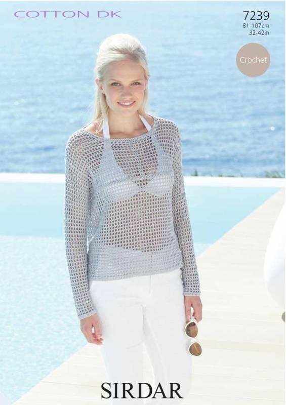 7239 DK Crochet Top