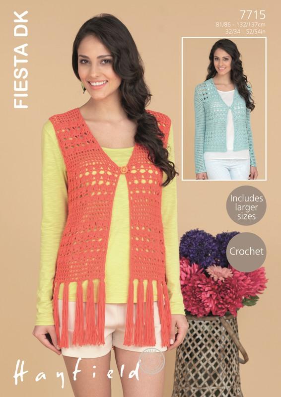 7715 DK Crochet Waistcoat/Cardigan