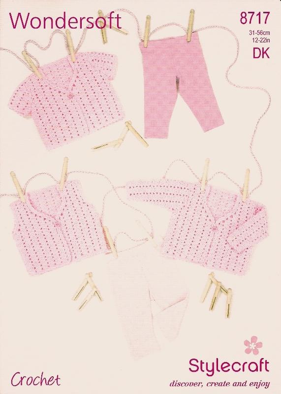 8717 DK Crochet Cardigans