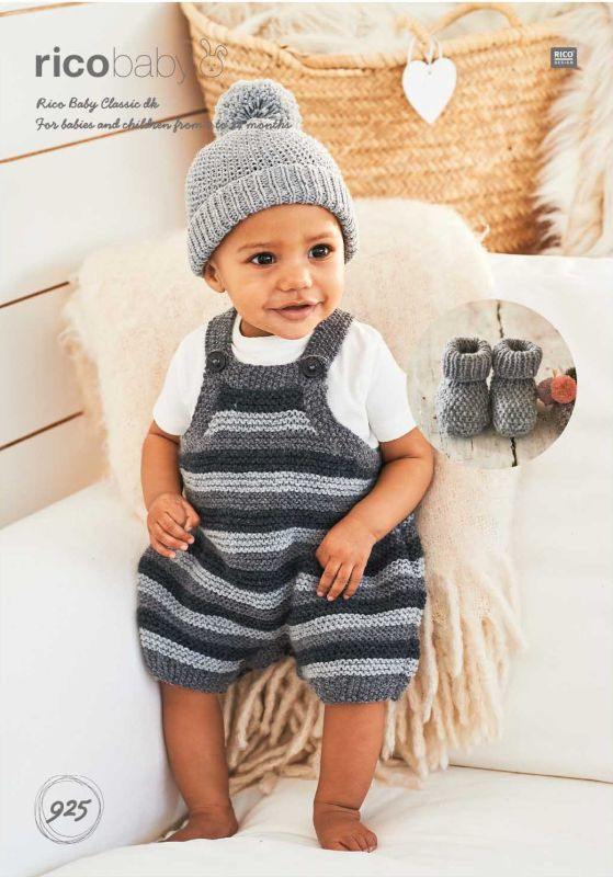 Rico 925 DK Romper/Hat/Bootees