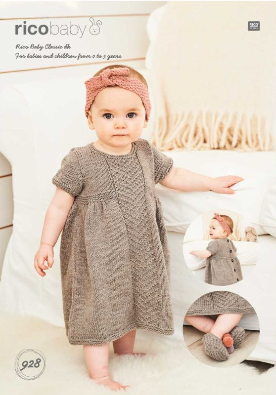 Rico 928 DK Dress/Headband/Slippers