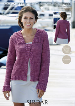 9506 4Ply Crochet Jacket