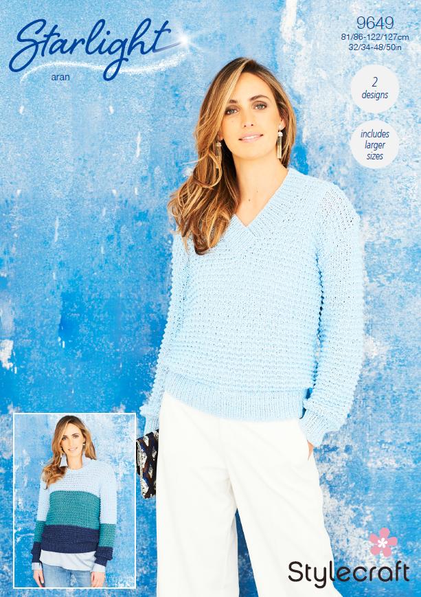 9649 Stylecraft Aran Sweaters