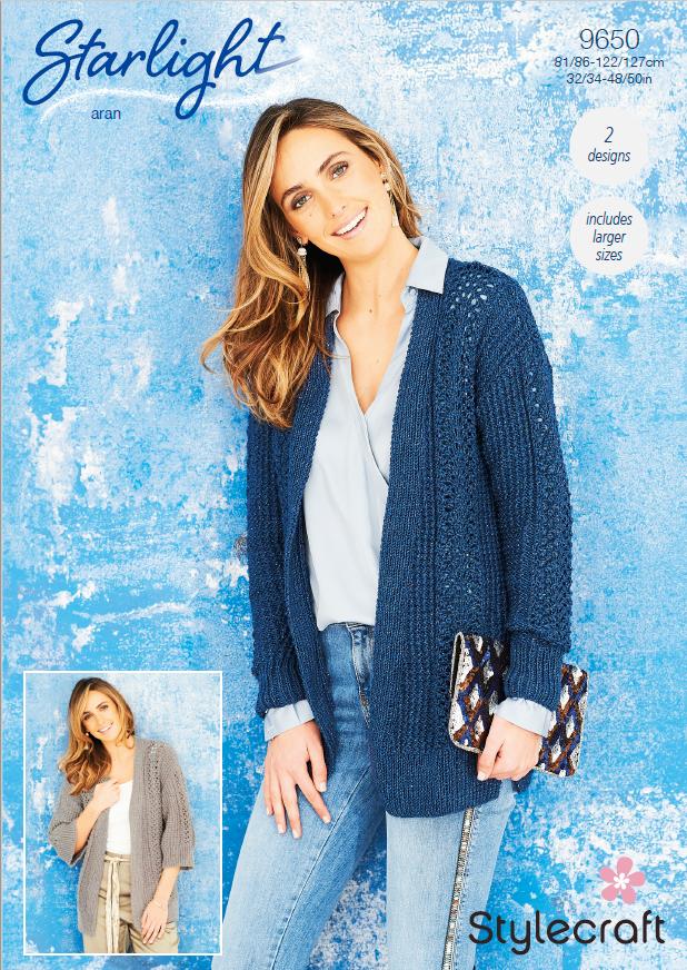 9650 Stylecraft Aran Jackets