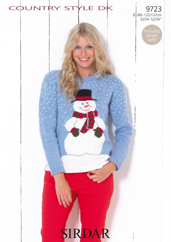 9723 DK Snowman Sweater