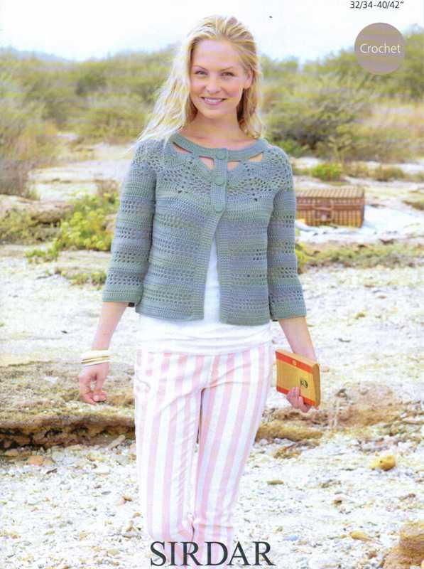 9729 DK Crochet Cardigan