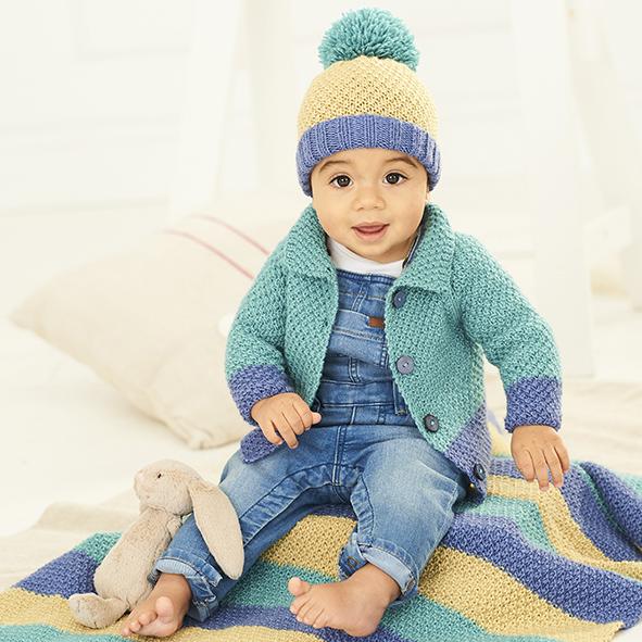 9757 Stylecraft DK Cardigan/Hat