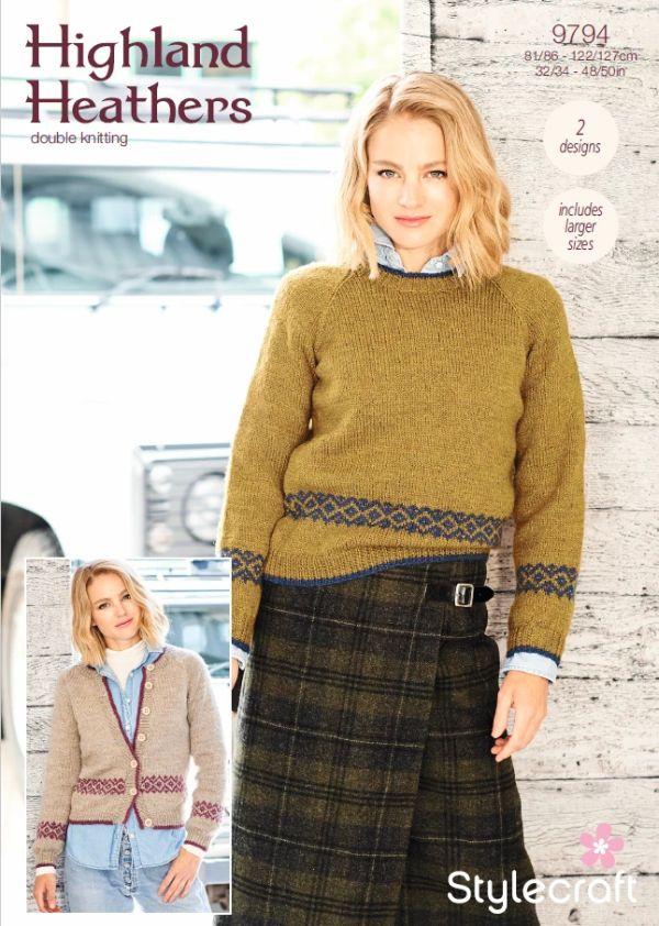 9794 Stylecraft DK Sweater/Cardigan
