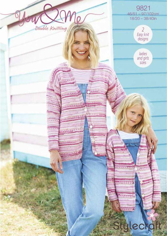 9821 Stylecraft DK Cardigan/Sweater