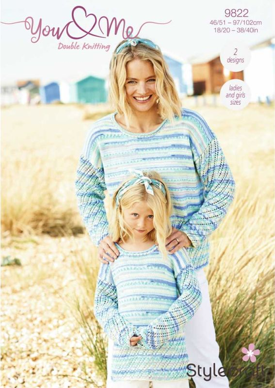 9822 Stylecraft DK Sweater/Cardigan