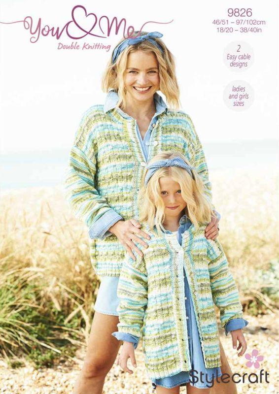 9826 Stylecraft DK Cardigan/Sweater